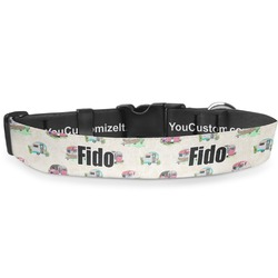 """Camper Deluxe Dog Collar - Toy (6"""" to 8.5"""") (Personalized)"""