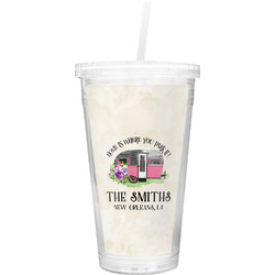 Camper Double Wall Tumbler with Straw (Personalized)