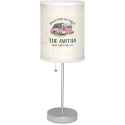 """Camper 7"""" Drum Lamp with Shade (Personalized)"""
