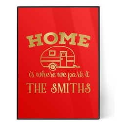 Camper 5x7 Red Foil Print (Personalized)