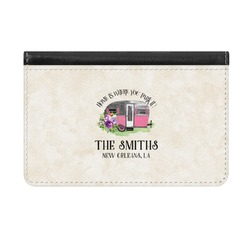 Camper Genuine Leather ID & Card Wallet - Slim Style (Personalized)