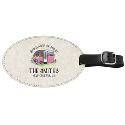 Camper Genuine Leather Luggage Tag (Personalized)