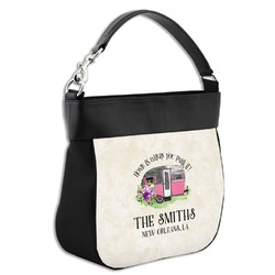 Camper Hobo Purse w/ Genuine Leather Trim (Personalized)