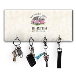 Camper Key Hanger w/ 4 Hooks (Personalized)