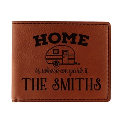 Camper Leatherette Bifold Wallet (Personalized)