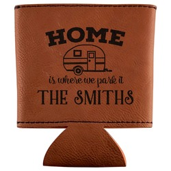 Camper Leatherette Can Sleeve (Personalized)