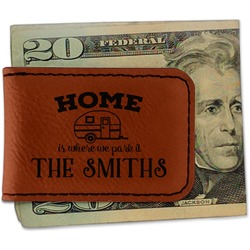 Camper Leatherette Magnetic Money Clip (Personalized)