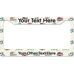 Camper License Plate Frame - Style B (Personalized)