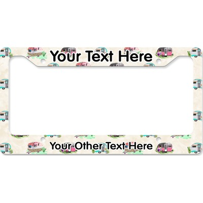 Camper License Plate Frame (Personalized)