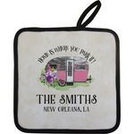 Camper Pot Holder w/ Name or Text