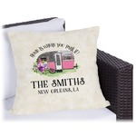 Camper Outdoor Pillow (Personalized)