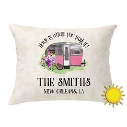 Camper Outdoor Throw Pillow (Rectangular) (Personalized)