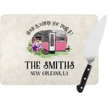 Camper Rectangular Glass Cutting Board (Personalized)