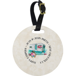 Camper Round Luggage Tag (Personalized)
