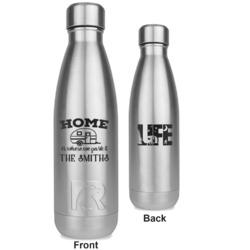 Camper RTIC Bottle - Silver - Engraved Front & Back (Personalized)