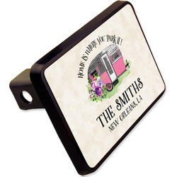 """Camper Rectangular Trailer Hitch Cover - 2"""" (Personalized)"""