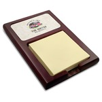 Camper Red Mahogany Sticky Note Holder (Personalized)
