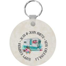 Camper Round Keychain (Personalized)
