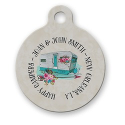 Camper Round Pet Tag (Personalized)