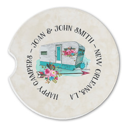 Camper Sandstone Car Coasters (Personalized)