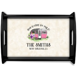 Camper Black Wooden Tray (Personalized)