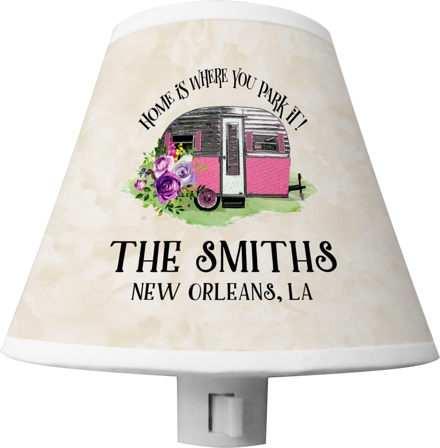Camper Shade Night Light Personalized Youcustomizeit