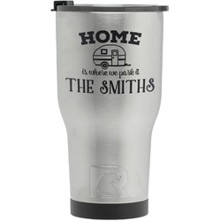 Camper RTIC Tumbler - Silver - Engraved Front (Personalized)