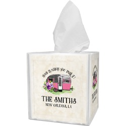 Camper Tissue Box Cover (Personalized)