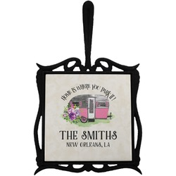 Camper Trivet with Handle (Personalized)