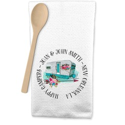 Camper Waffle Weave Kitchen Towel (Personalized)