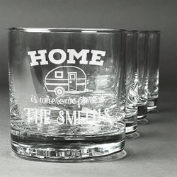 Camper Whiskey Glasses (Set of 4) (Personalized)