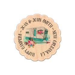 Camper Genuine Wood Sticker (Personalized)