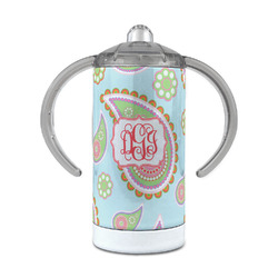 Blue Paisley 12 oz Stainless Steel Sippy Cup (Personalized)