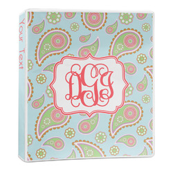 Blue Paisley 3-Ring Binder - 1 inch (Personalized)