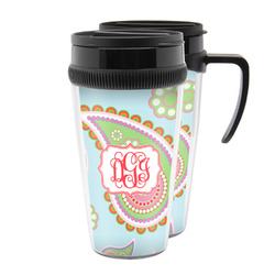 Blue Paisley Acrylic Travel Mugs (Personalized)