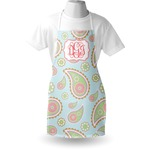 Blue Paisley Apron (Personalized)