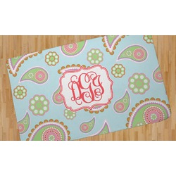 Blue Paisley Area Rug (Personalized)