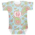 Blue Paisley Baby Bodysuit (Personalized)