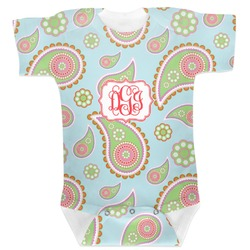 Blue Paisley Baby Bodysuit (Personalized)
