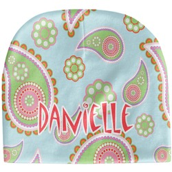 Blue Paisley Baby Hat (Beanie) (Personalized)
