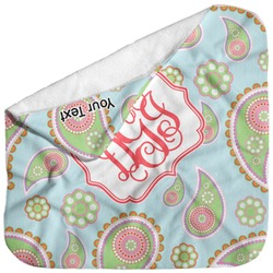 Blue Paisley Baby Hooded Towel (Personalized)