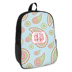 Blue Paisley Kids Backpack (Personalized)