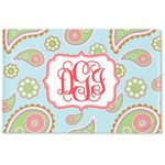 Blue Paisley Woven Mat (Personalized)