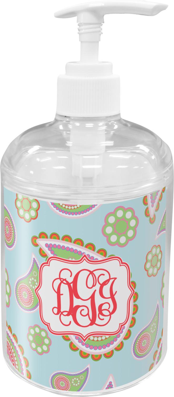 Blue Paisley Soap Lotion Dispenser Personalized Youcustomizeit