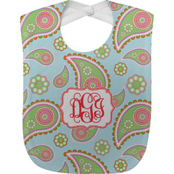 Blue Paisley Baby Bib (Personalized)