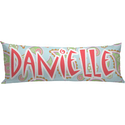 Blue Paisley Body Pillow Case (Personalized)