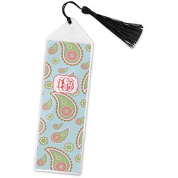 Blue Paisley Book Mark w/Tassel (Personalized)