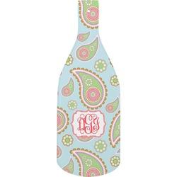 Blue Paisley Bottle Shaped Cutting Board (Personalized)