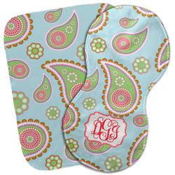 Blue Paisley Burp Cloth (Personalized)