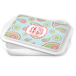 Blue Paisley Cake Pan (Personalized)